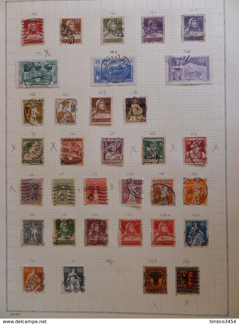 Suisse Très Belle Collection D'oblitérés 1882/1940. Très Fournie Avec Bonnes Valeurs. B/TB. A Saisir! - Collections