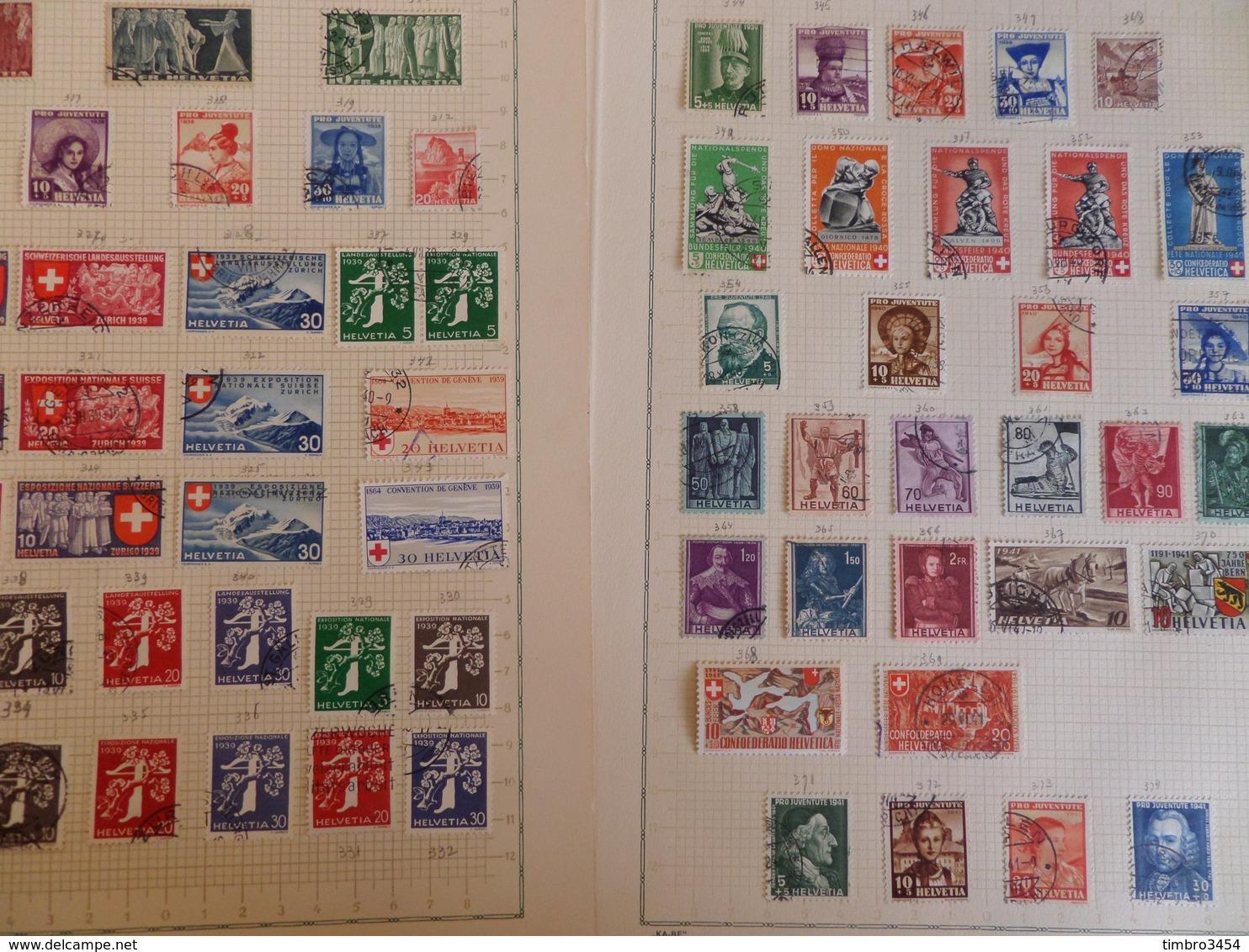 Suisse Très Belle Collection D'oblitérés 1882/1940. Très Fournie Avec Bonnes Valeurs. B/TB. A Saisir! - Suisse