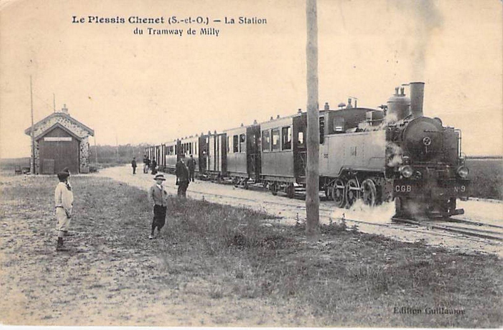LE PLESSIS CHENET - La Station Du Tramway De MILLY - Yvelines - 78 - Frankrijk