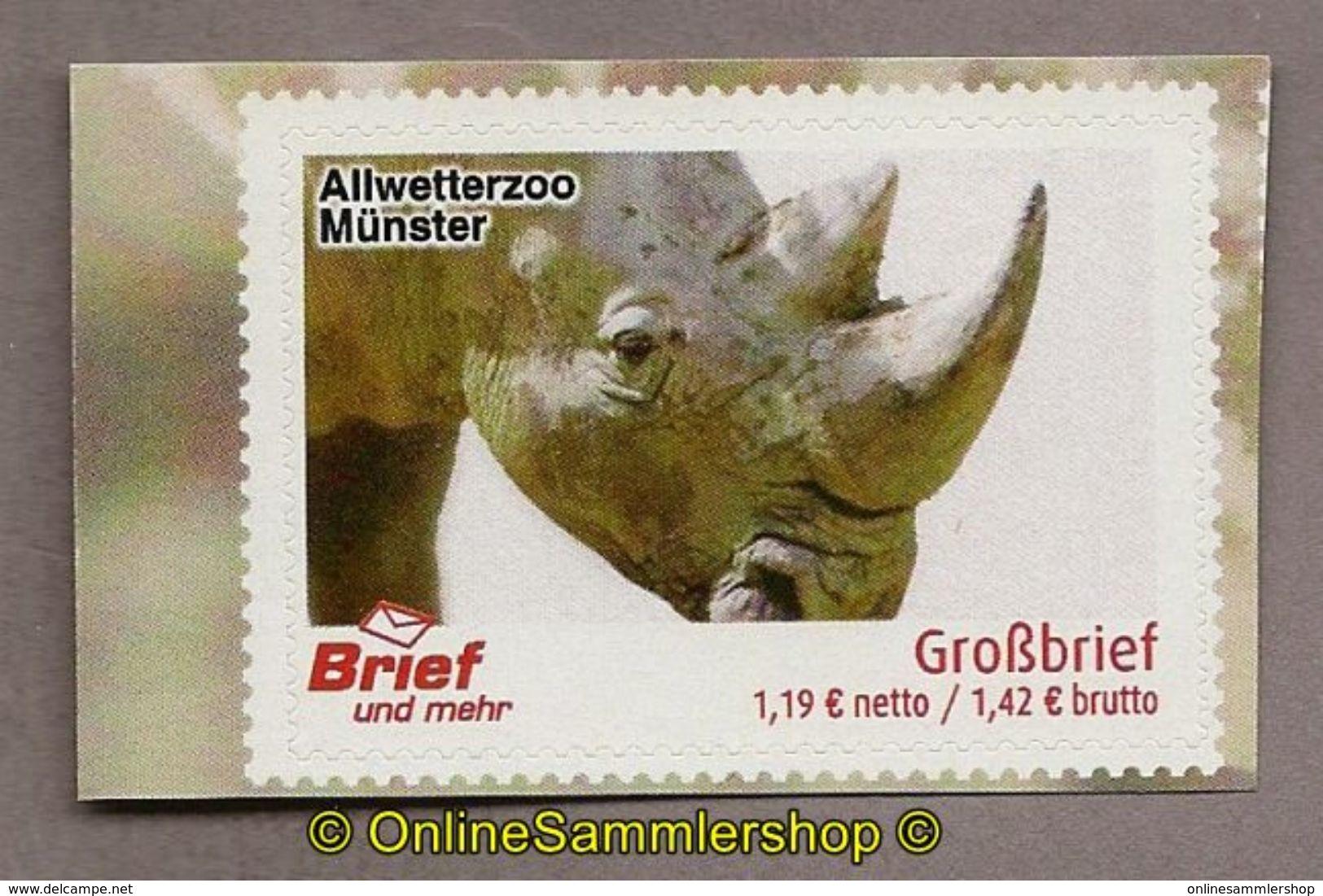 L02) Privatpost - Brief Und Mehr - Allwetterzoo Münster - Nashorn (Rhinocerotidae) - BRD