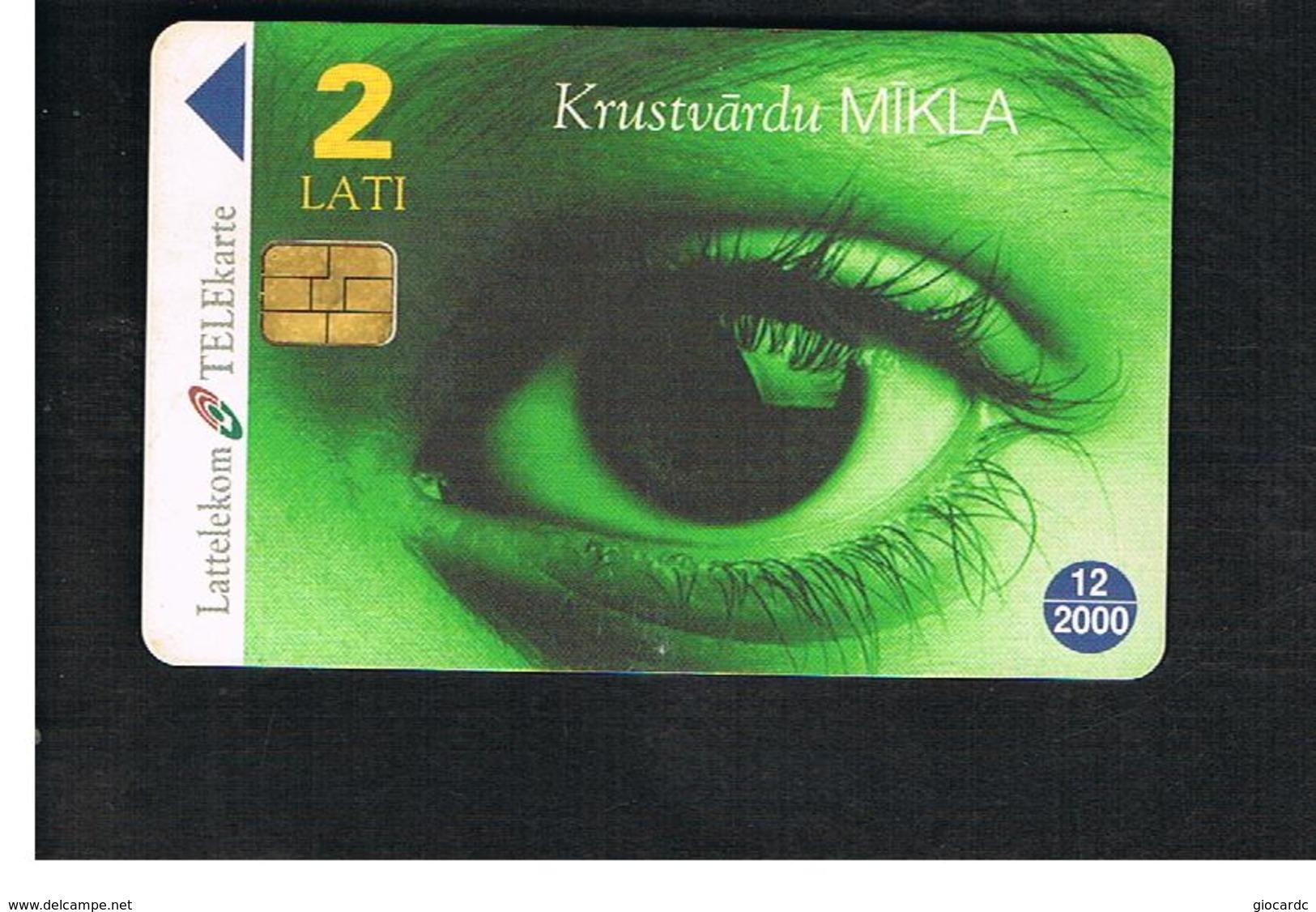 LETTONIA (LATVIA) -        1998 CROSSWORD PUZZLE, EYE             -  USED - RIF. 10595 - Latvia