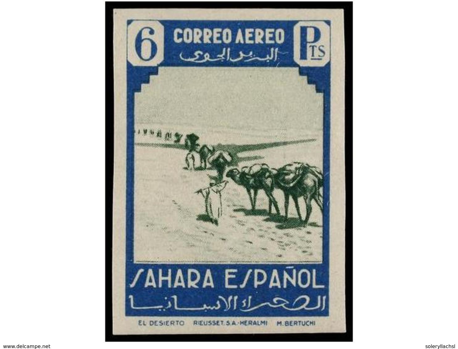 1125 ** COLONIAS ESPAÑOLAS: SAHARA. Ed.75/82s. SERIE COMPLETA<B> SIN DENTAR.</B> LUJO. Cat. 175?. - Postzegels