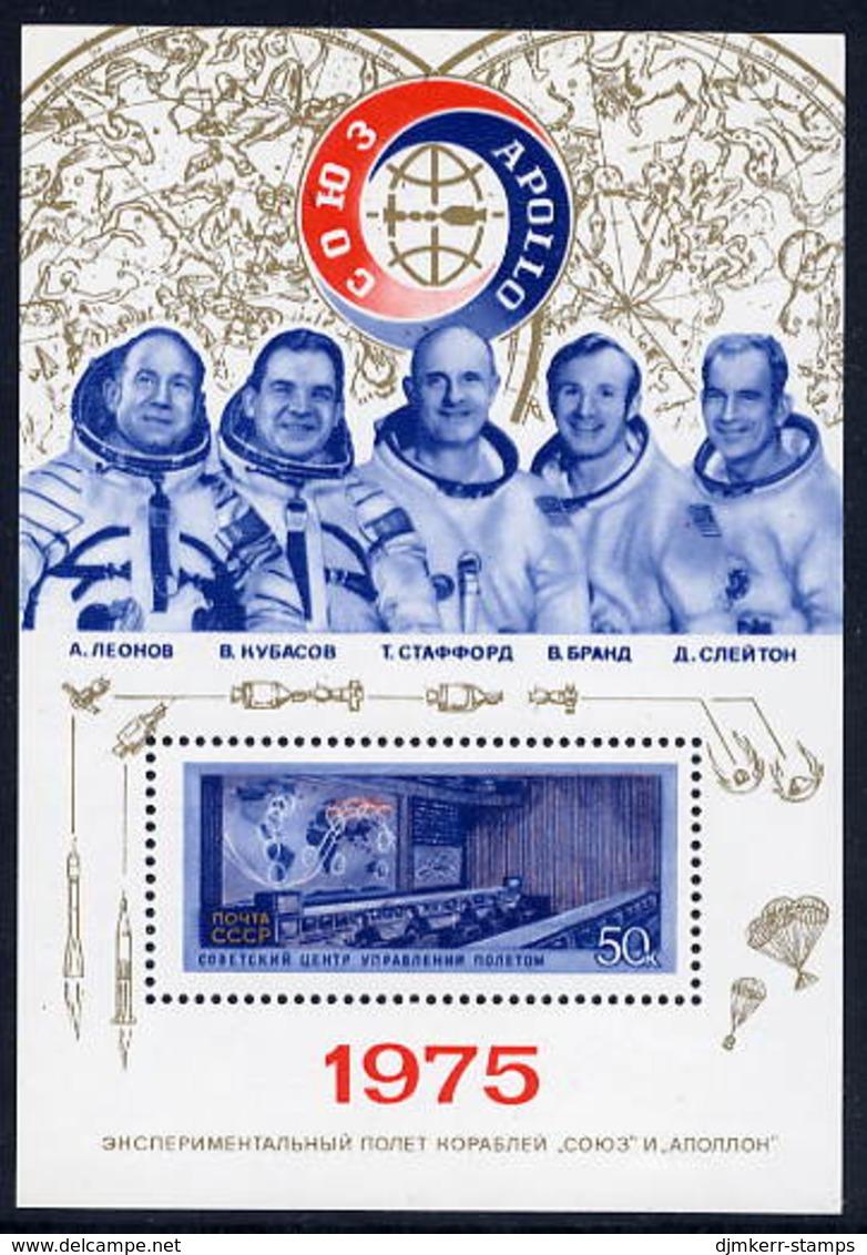 SOVIET UNION 1975 Apollo-Soyuz Space Programme Block MNH / **.  Michel Block 105 - Blocks & Sheetlets & Panes