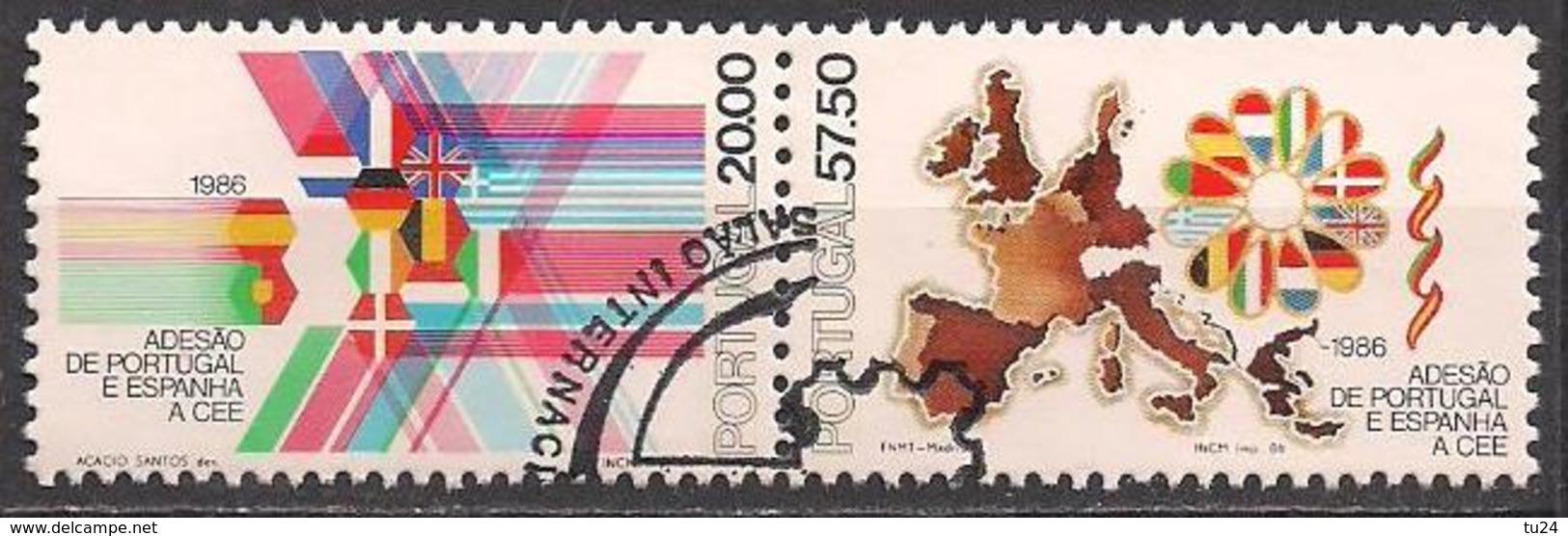 Portugal  (1986)  Mi.Nr.  1677 + 1678  Gest. / Used  (6el14) - 1910-... Republic