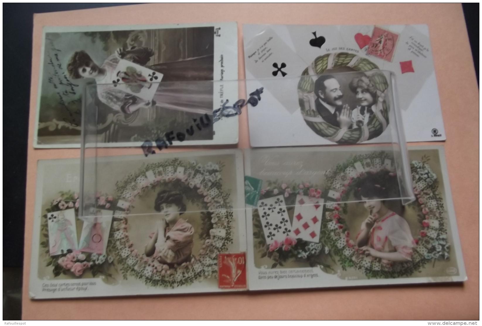 C P  Le Jeu Des Cartes Lot 4 Cartes - Jeux Et Jouets