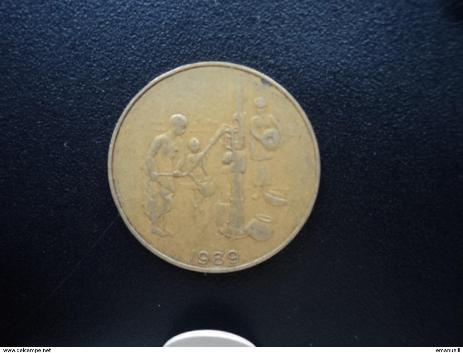 ÉTATS DE L'AFRIQUE DE L'OUEST : 10 FRANCS  1989   KM 10    TTB / TB - Monnaies
