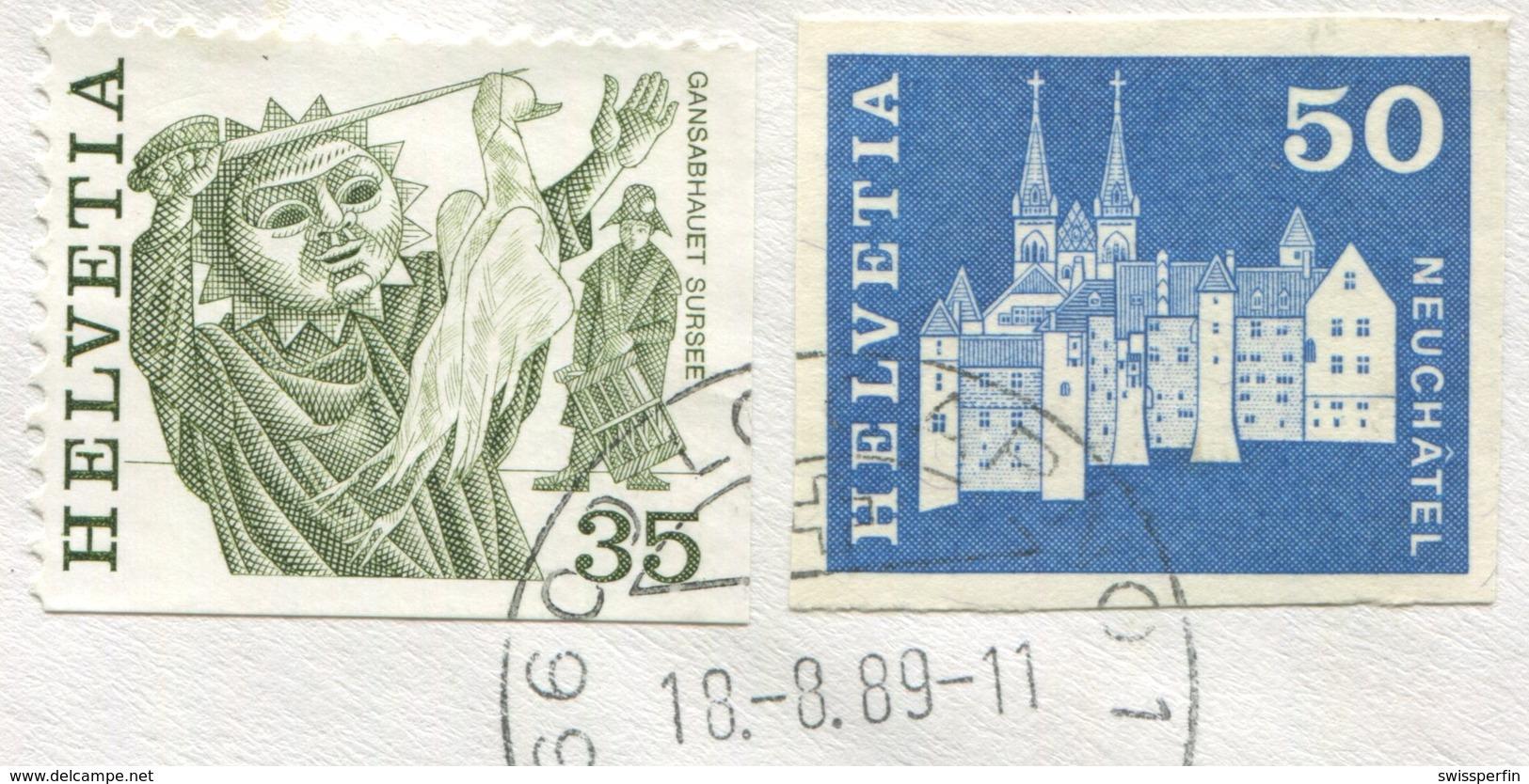 1784 - 50 Rp. Neuchâtel ABART Ungezähnt Als MiF Auf Einschreiben Von LOCARNO Nach BERN Und Weiter Nach ASCONA - Variétés