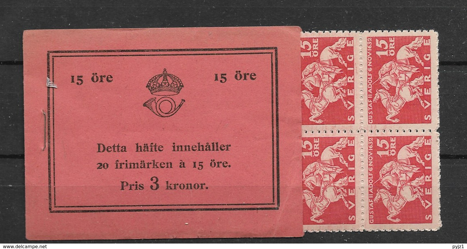 1932 MNH Booklet Mi 217, Sweden, Postfris - Boekjes