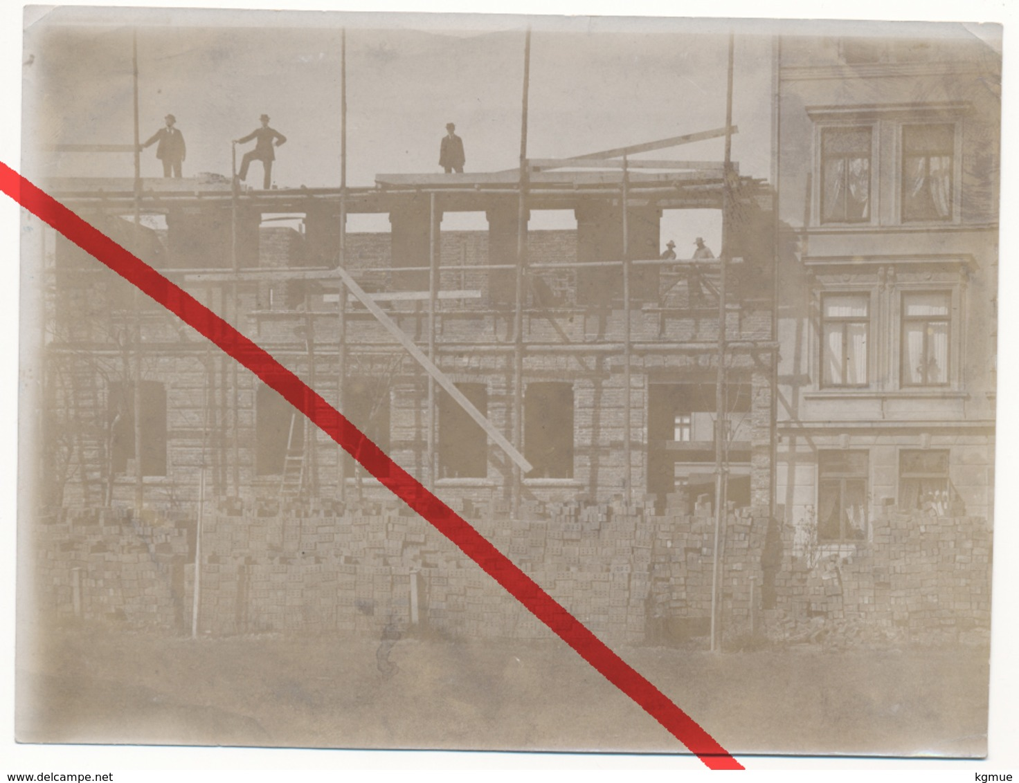 Original Foto - Wilhelmshaven - Neubau Des Herrn Heß - Aufnahme Vom 1.5.1896 - Wilhelmshaven