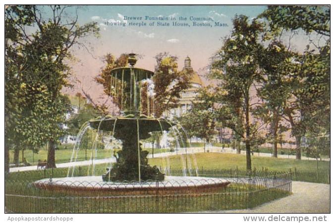 Massachusetts Boston Brewer Fountain In The Common