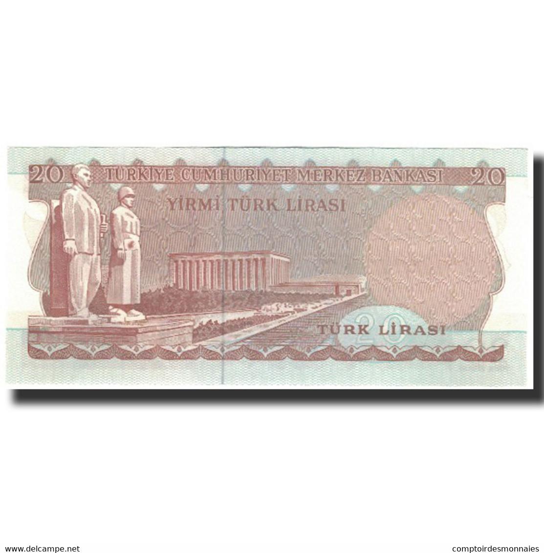 Billet, Turquie, 20 Lira, 1979-08-29, KM:187a, NEUF - Turquie