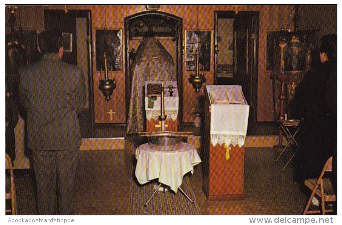 Alaska Eklutna St Nicholas Russian Orthodox Church Interior