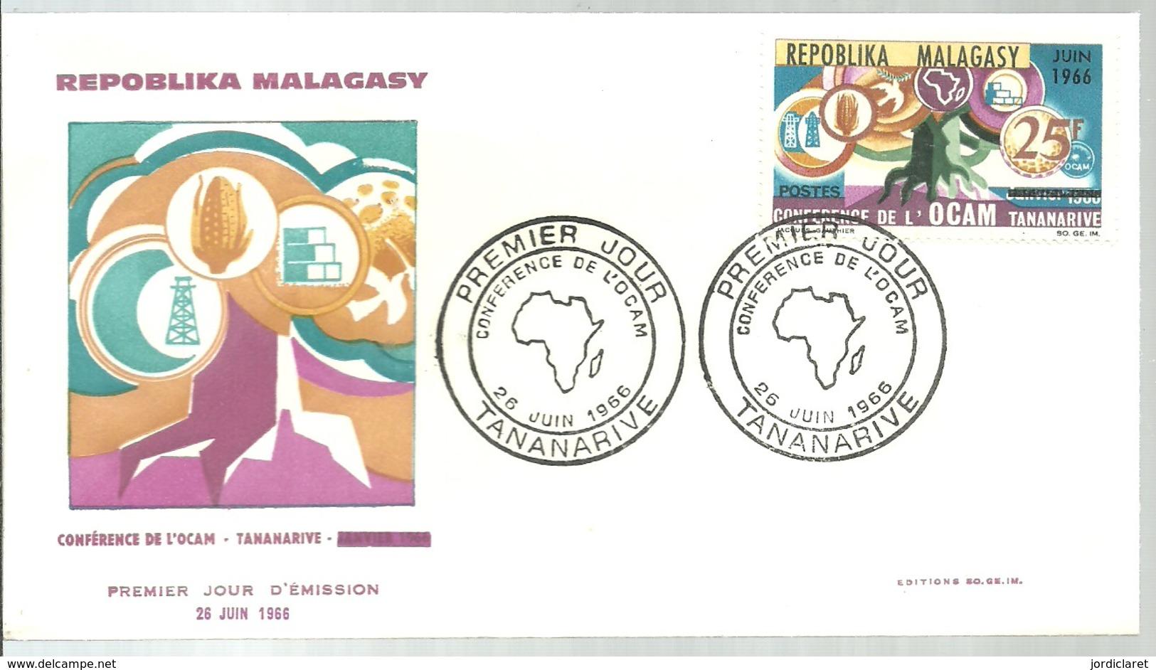 FDC 1966 - Madagascar (1960-...)