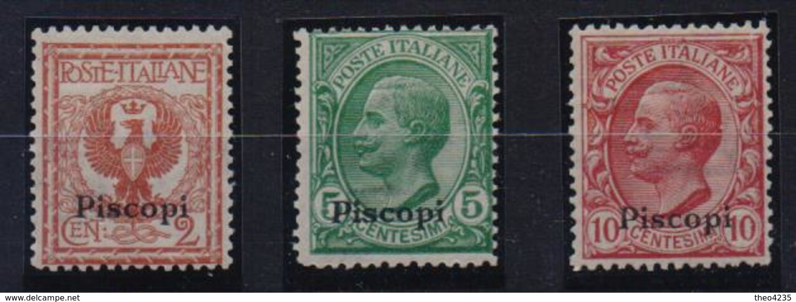 GREECE STAMPS DODECANESE/FIRST ISLANDS NAMES OVERPRINTS/PISCOPI-1/12/1912 -MNH(80) - Dodecanese