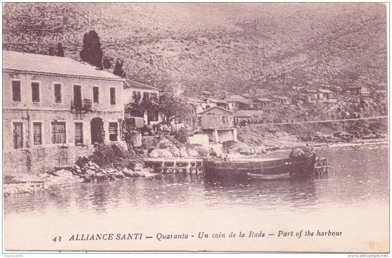 ALTE   AK   SARANDA - Quaranta / Albanien   - Un Coin De La Rade - Ca. 1915 - Albanie