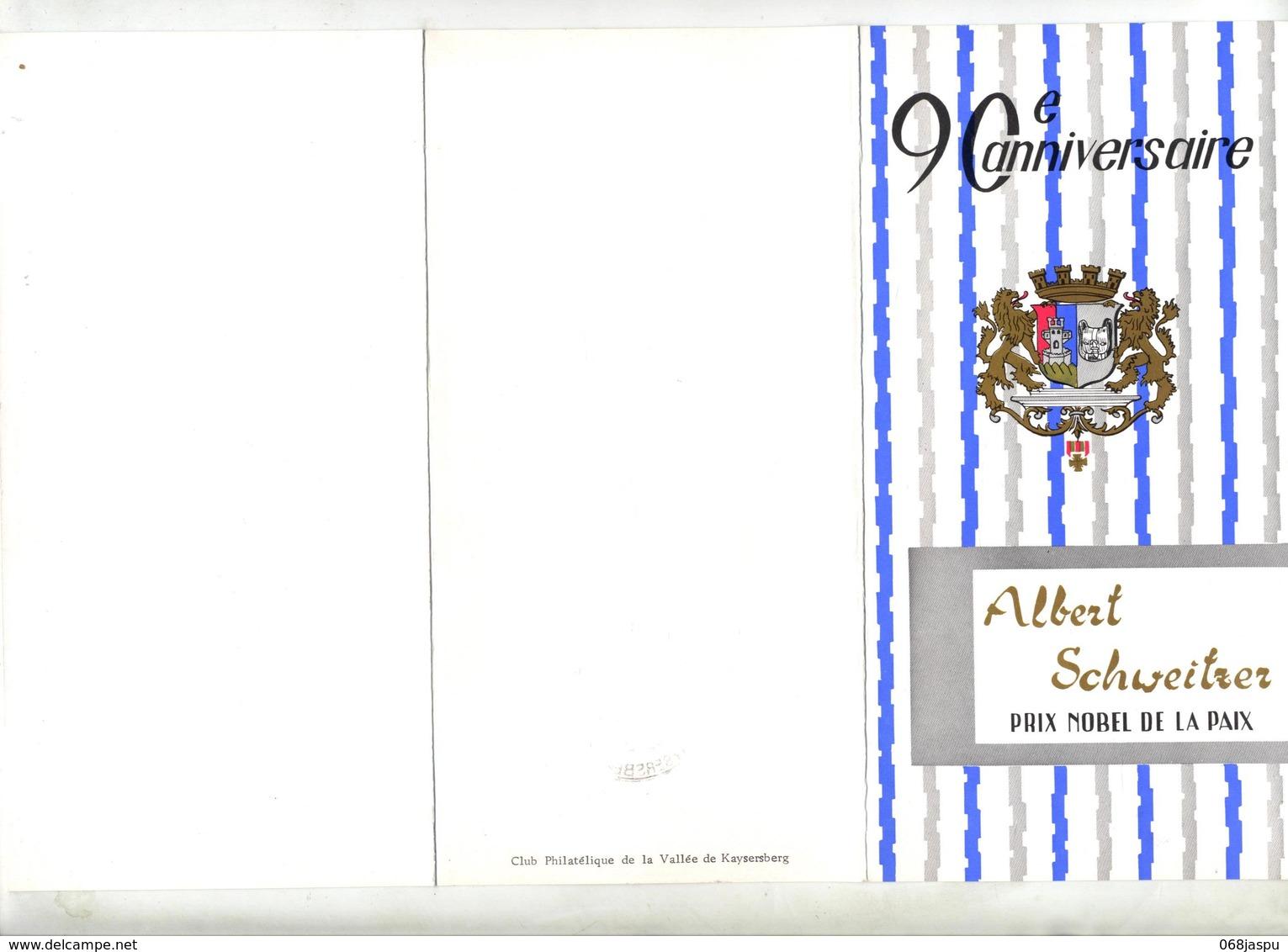 Souvenir Cachet Kaysersberg Anniversaire Schweitzer - Marcophilie (Lettres)
