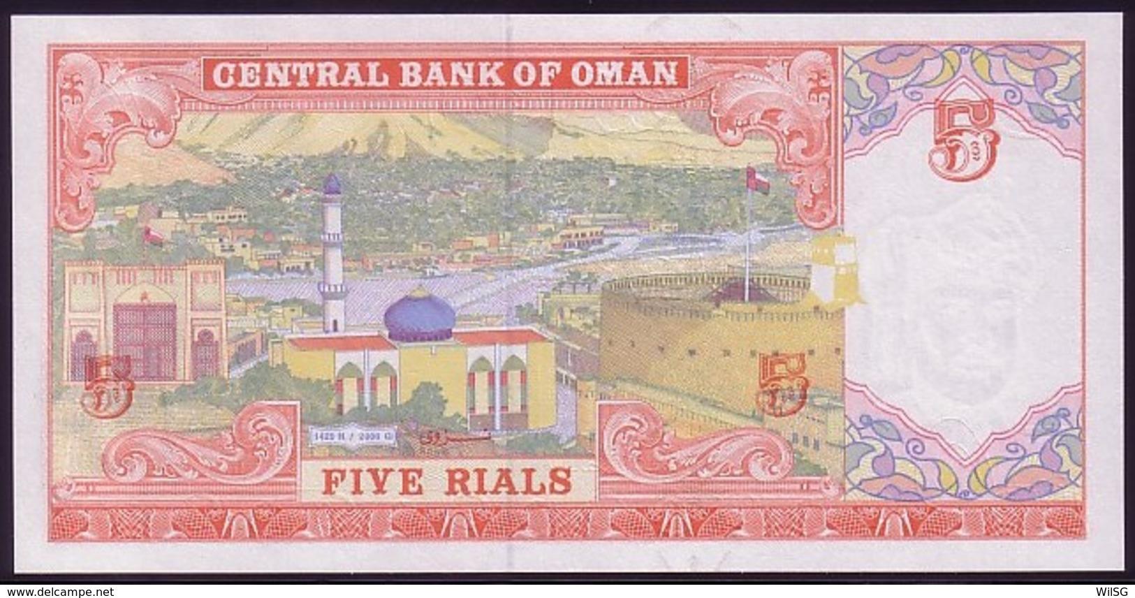 Oman 5 Rials 2000 / AH1420 UNC - Oman