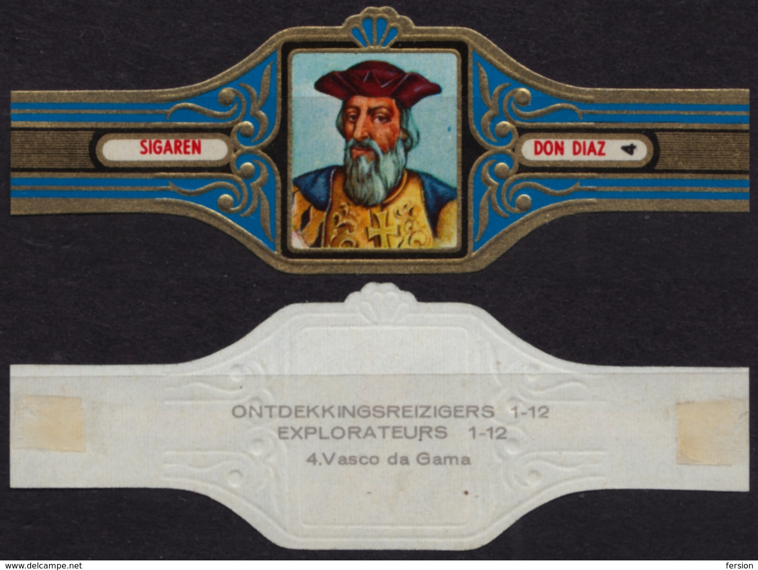 Vasco Da Gama Portugal - Explorers Ontdekkingsreizigers Belgium Belgique DON DIAZ Sigaren CIGAR CIGARS Label Vignette - Etiquettes