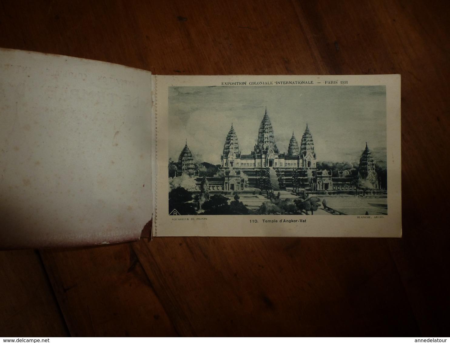 Carnet Contenant  10 CPA Détachables  De L'Exposition Internationale De Paris 1931 LE TEMPLE D'ANGKOR-VATH - Cartes Postales