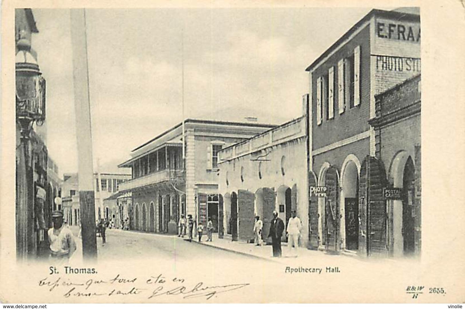 PIE-R-18-1771 : SAINT THOMAS. APOTHECARY HALL - Antilles Neérlandaises