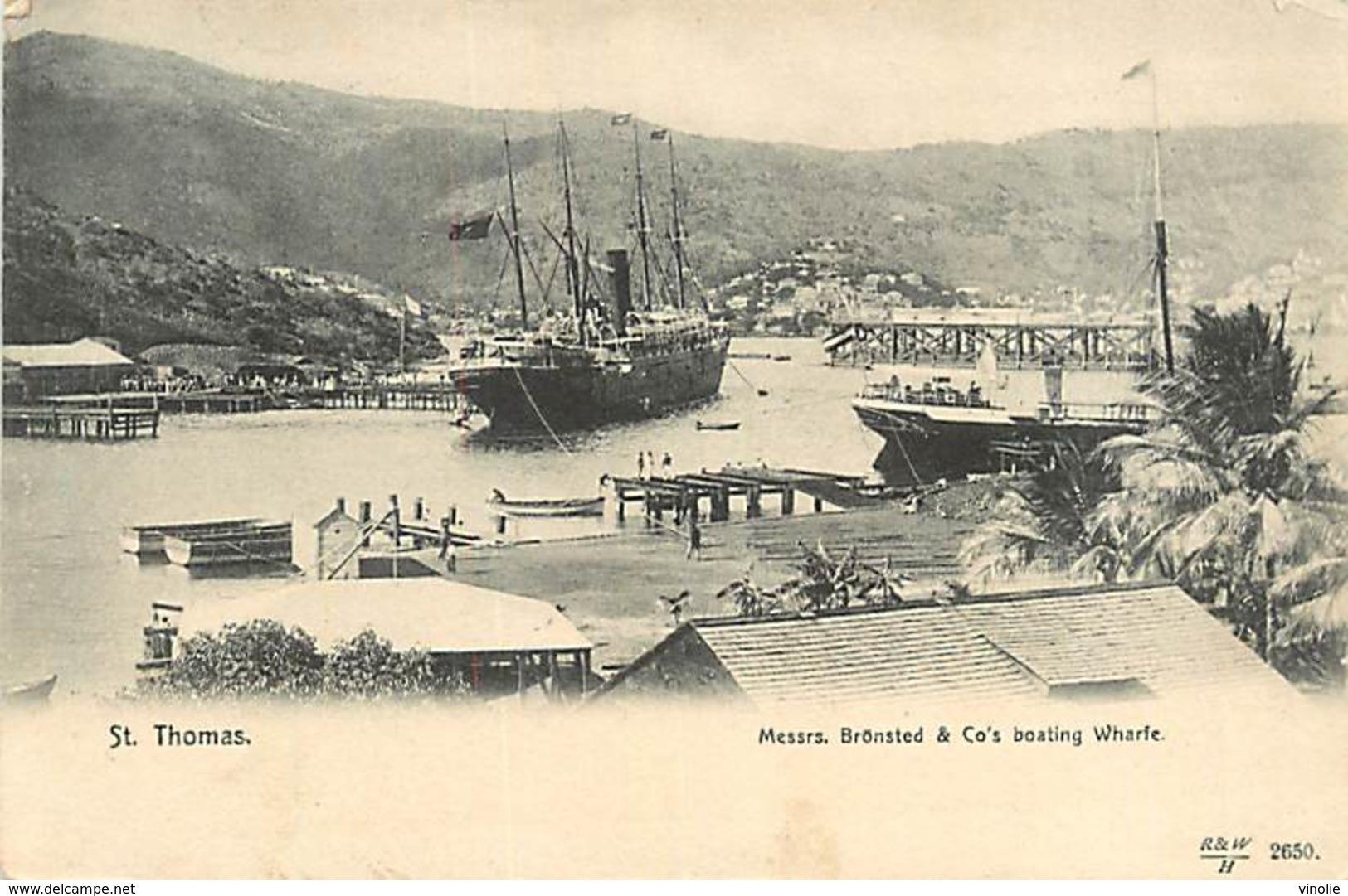 PIE-R-18-1773 : SAINT THOMAS. MESSRS BRÖNSTED & CO'S BOATING WHARFE - Antilles Neérlandaises