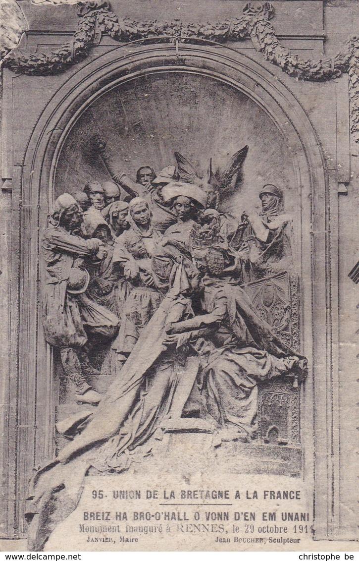 Rennes, Union De La Bretagne A La France, Monument Inaugré Le 29 Octobre 1911 (pk45519) - Rennes