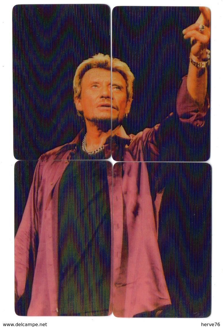 LOT 4 Télécartes - Puzzle - Phonecard - Johnny HALLYDAY - Puzzles