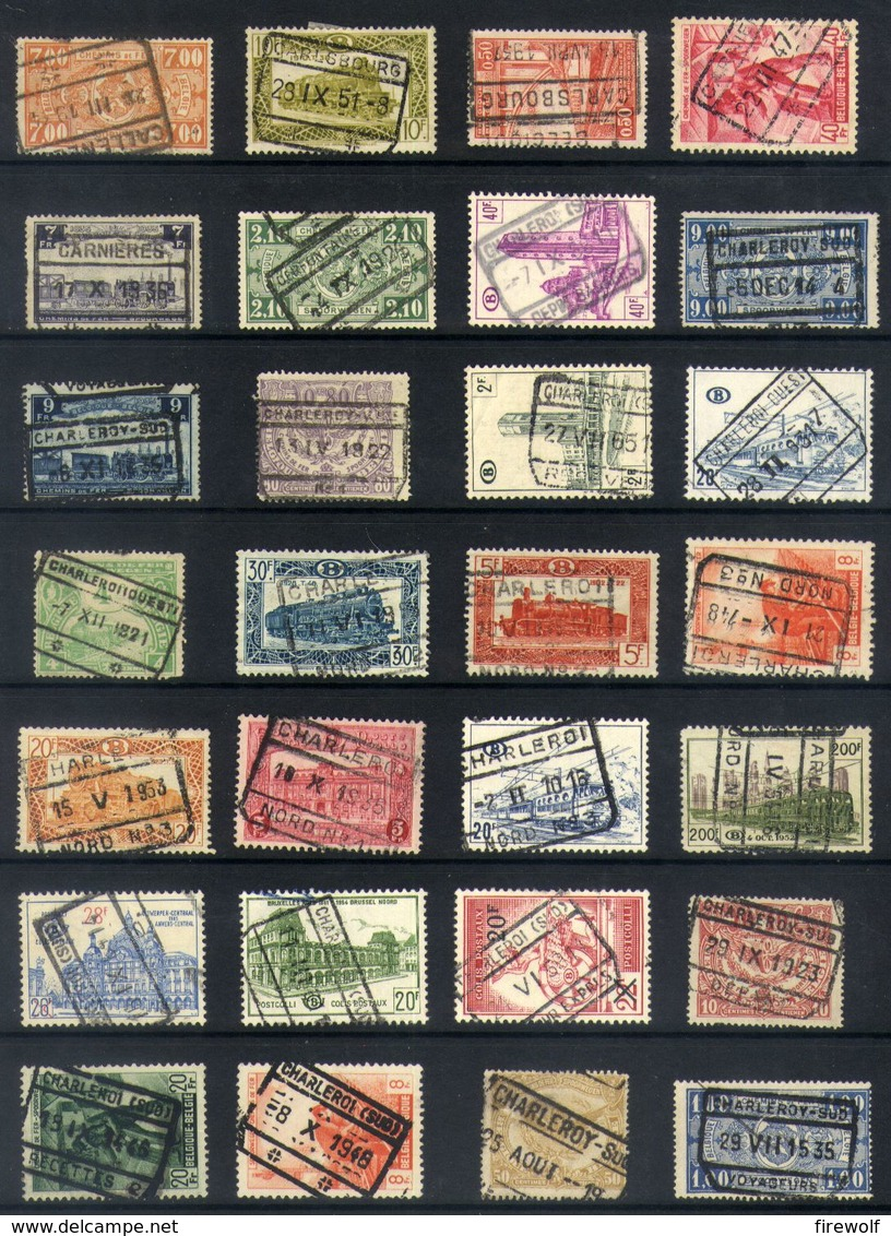 Y43 - Belgium - Railway Parcel Stamps - Used Lot - Ohne Zuordnung
