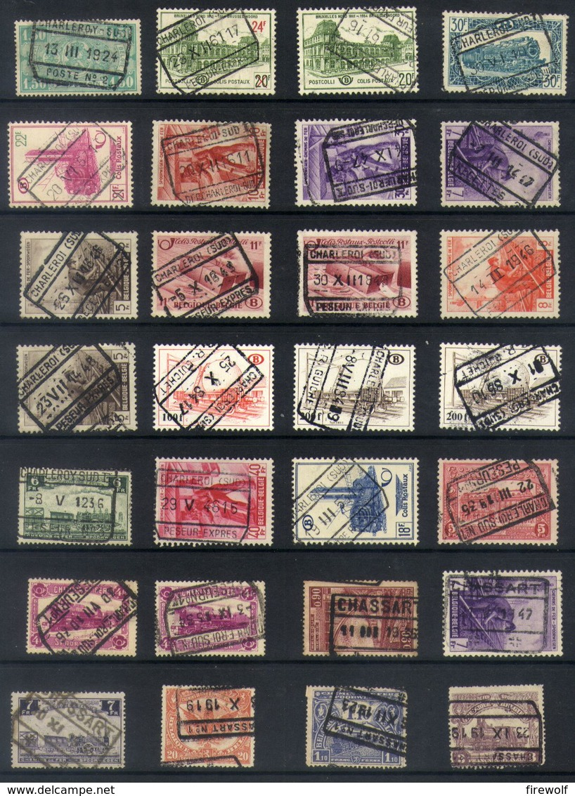 Y44 - Belgium - Railway Parcel Stamps - Used Lot - Bahnwesen