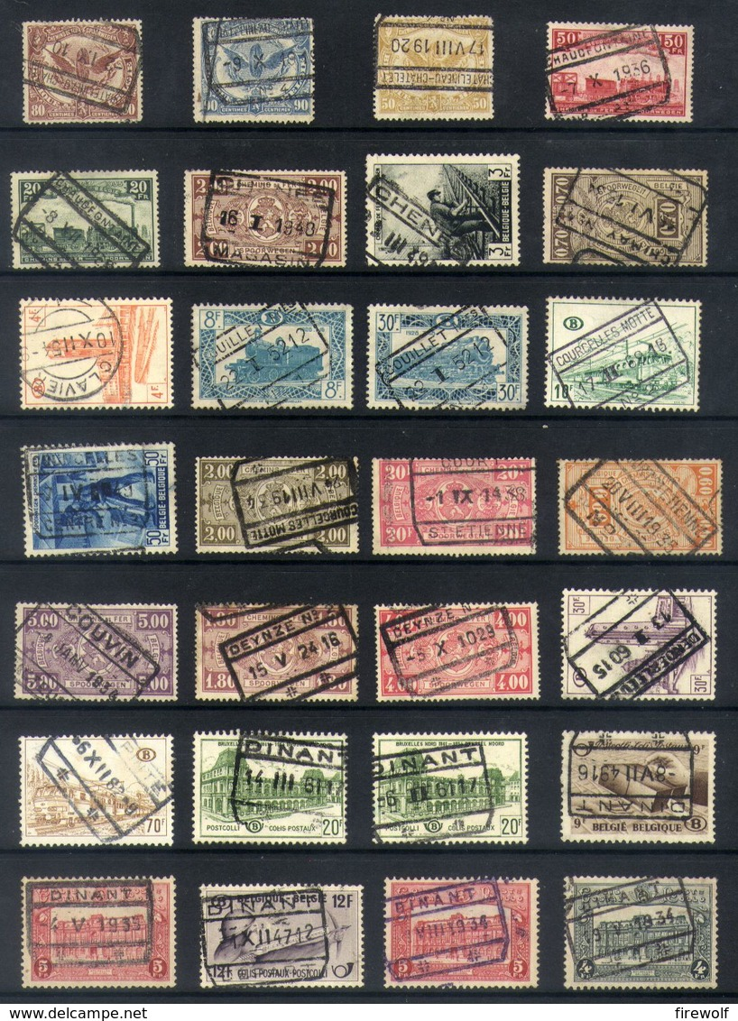 Y46 - Belgium - Railway Parcel Stamps - Used Lot - Ohne Zuordnung