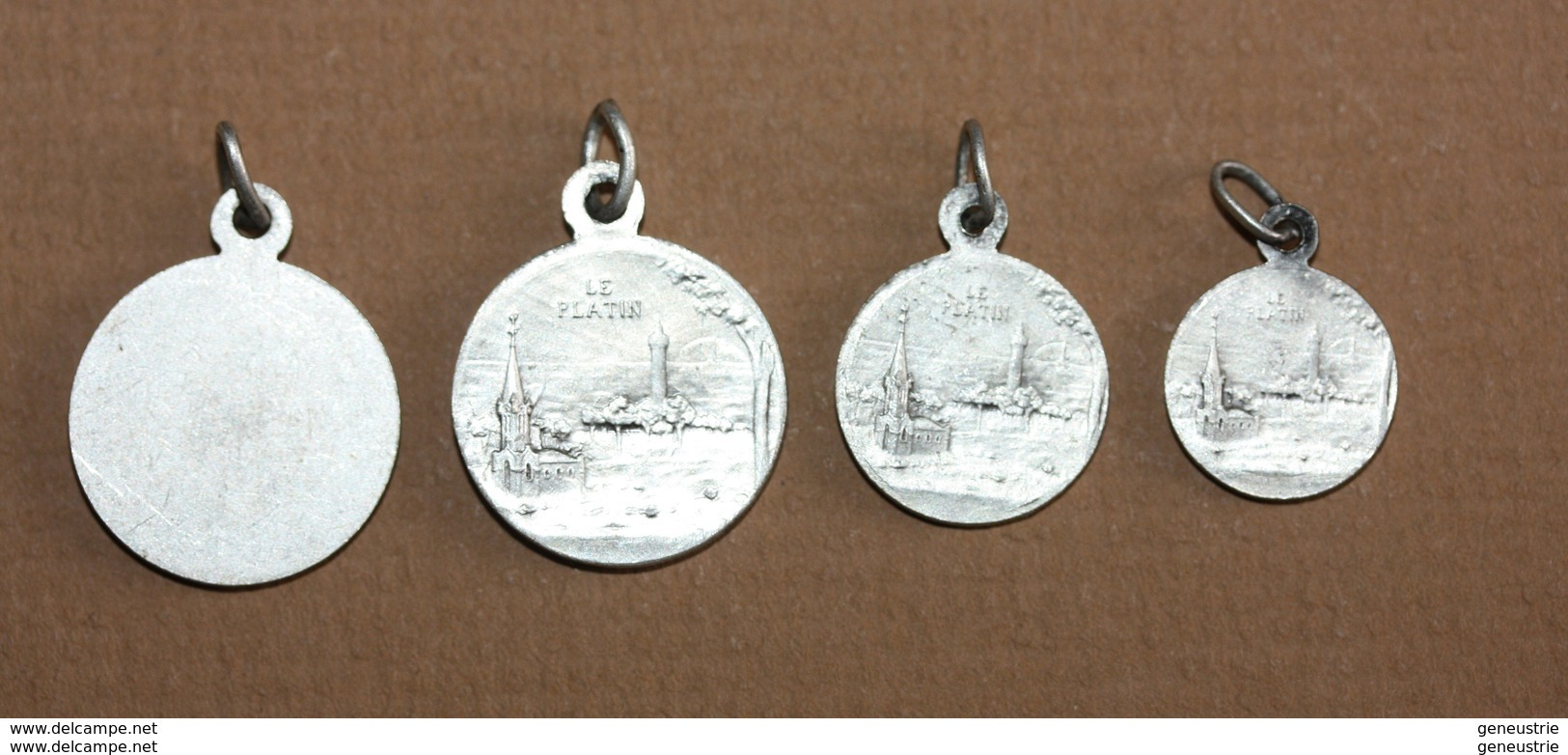 """WW1 Série De 4 Médailles Porte-bonheur D'aviateur """"Notre-Dame Du Platin"""" Saint-Palais-sur-Mer  Royan - Aviator Medal WWI - Religion & Esotericism"""