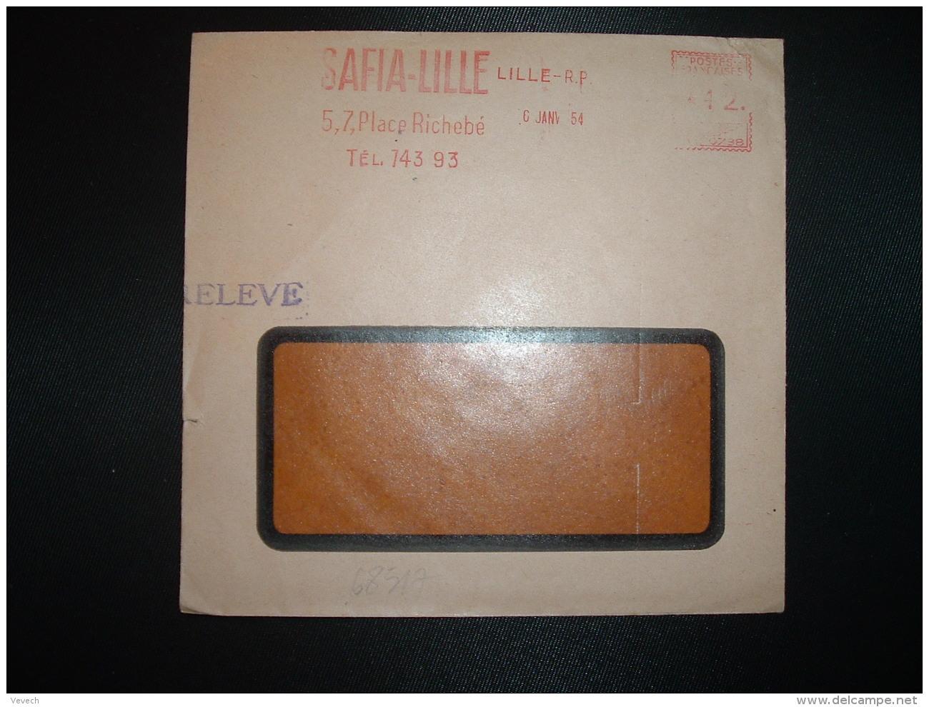 LETTRE EMA C. 0788 à 12. Du 6 JANV 54 LILLE RP (59) SAFIA-LILLE - Marcophilie (Lettres)