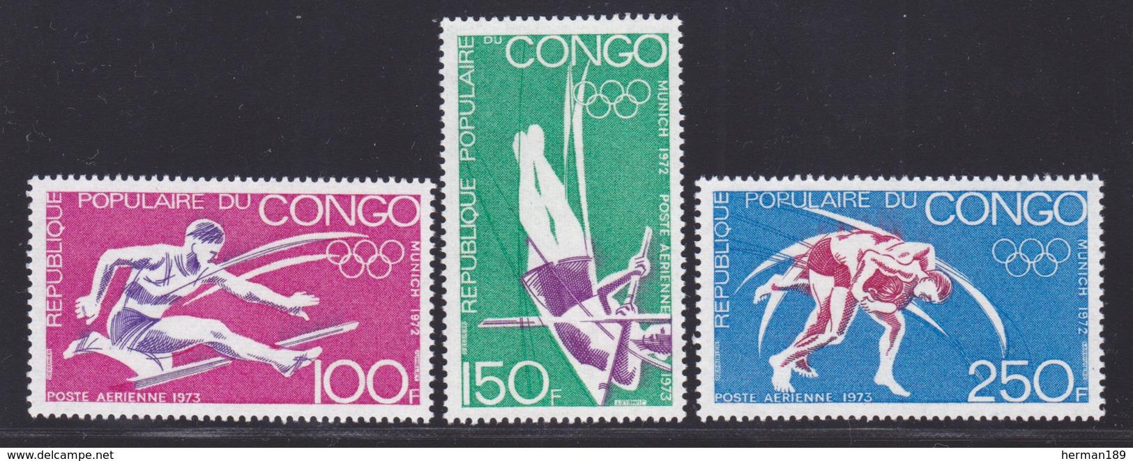 CONGO AERIENS N°  150 à 152 ** MNH Neufs Sans Charnière, TB (D6814) Sports, Jeux Olympiques De Munich - Congo - Brazzaville