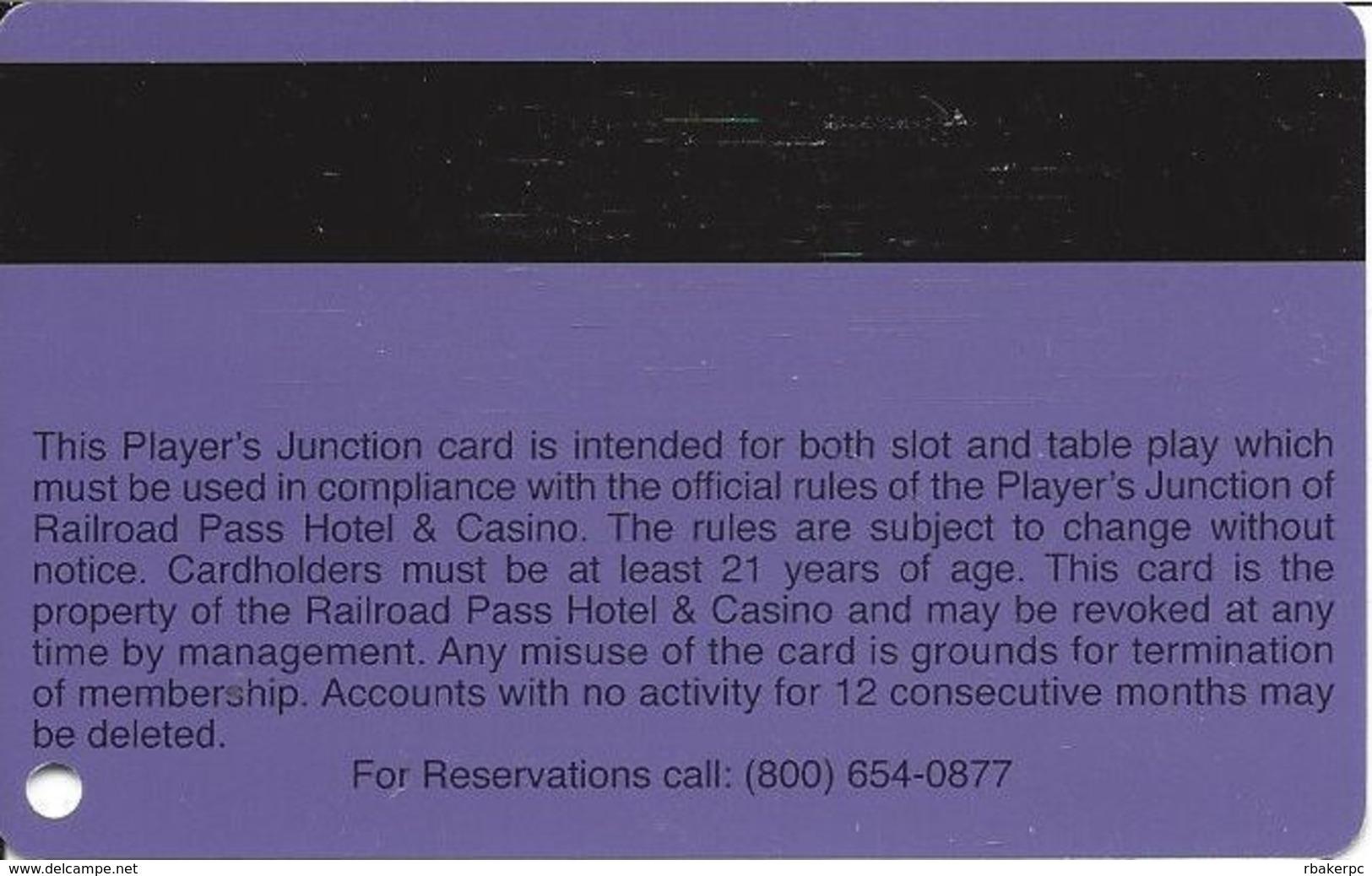Railroad Pass Casino - Henderson, NV - Slot Card BLANK - Casino Cards