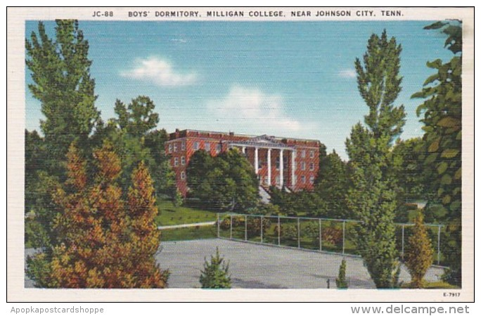 Tennessee Johnson City Boys' Dormitory Milligan College