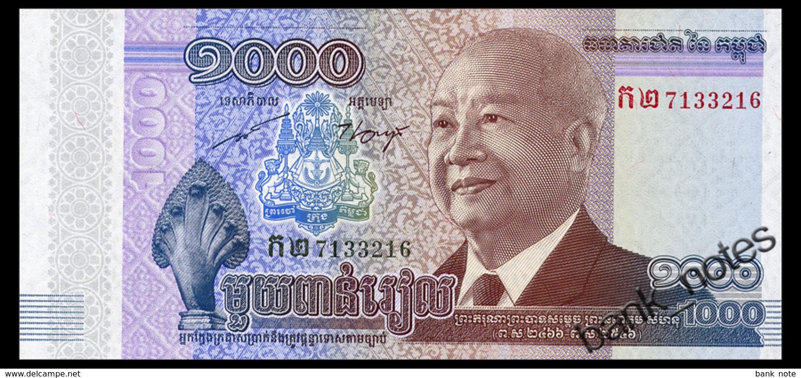 CAMBODIA 1000 RIELS 2012 Pick 63 Unc - Cambodia