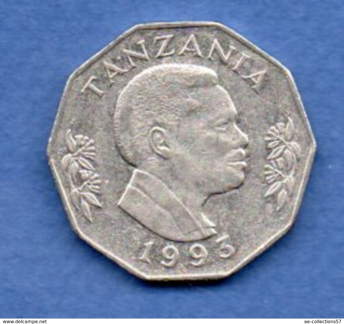 Tanzanie   - 5 Shilingi 1993   -  Km  # 23a2  - état  TTB - Tanzanie