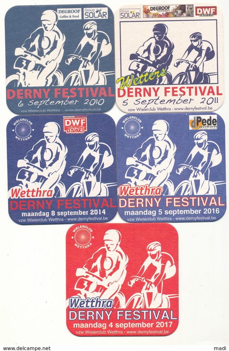 Derny Festival 5 Bierviltjes 2010 - 2011 - 2014 - 2016 - 2017 - Sous-bocks