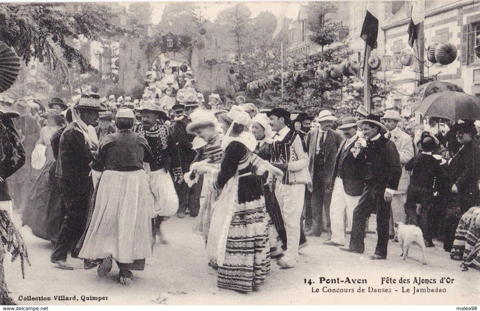 PONT - AVEN,,,,FETE Des  AJONCS  D' OR  ,,,,LE CONCOURS De DANSES ,,,LE  JAMBADAO,,,,TBE,,,,rare,,, - Pont Aven