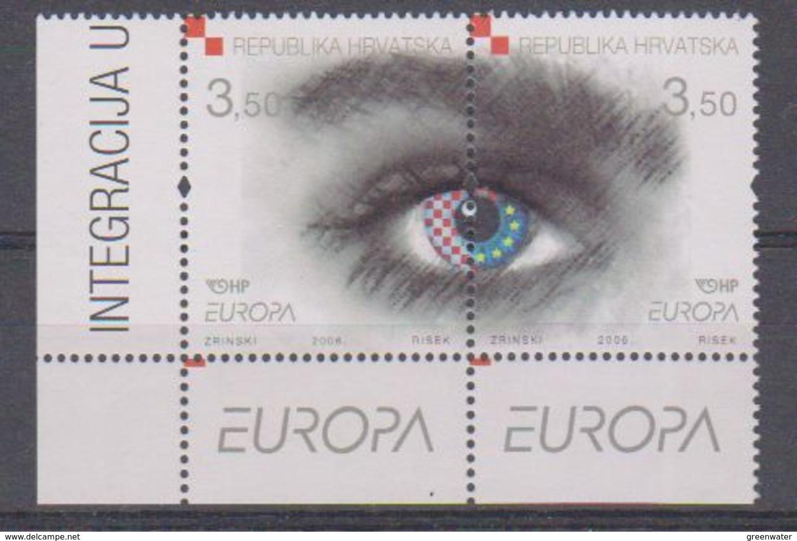 Europa Cept 2006 Croatia 2v (corner) ** Mnh (38296A) - Europa-CEPT