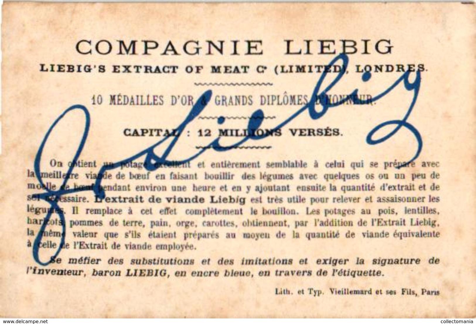 0130  C1875 Transport D'un Pot Liebig, Serie Nr 130 Complete 6 LITHO Chromos TRES RARE - Liebig