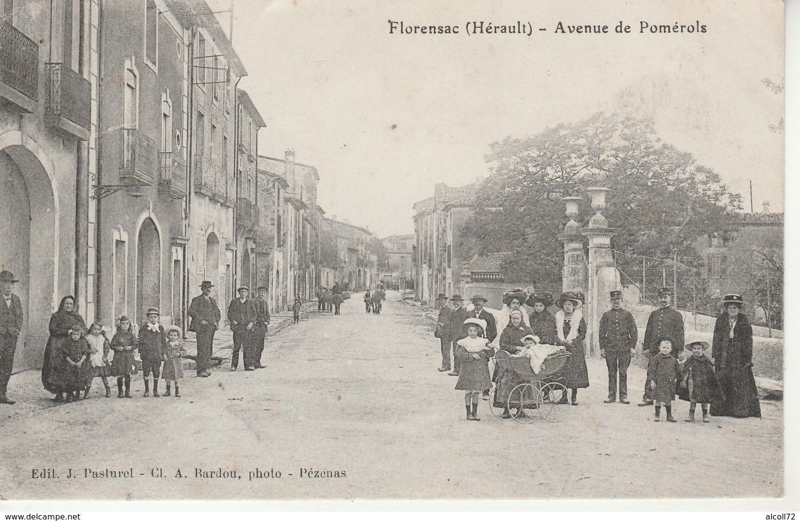 Florensac-Avenue De Pomerols-Edit.Pasturel. - Francia