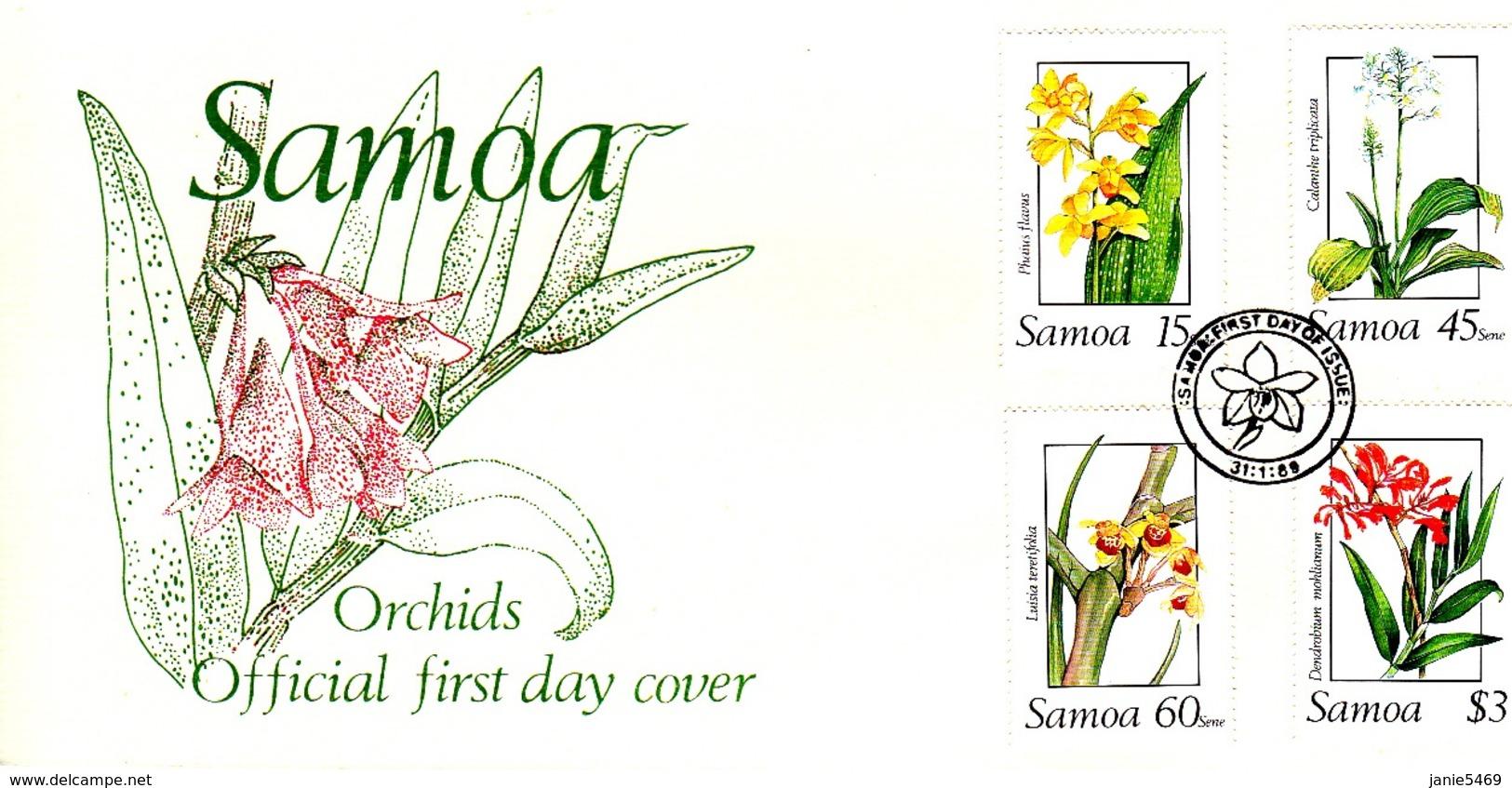 Samoa 1989 Orchids FDC - Samoa