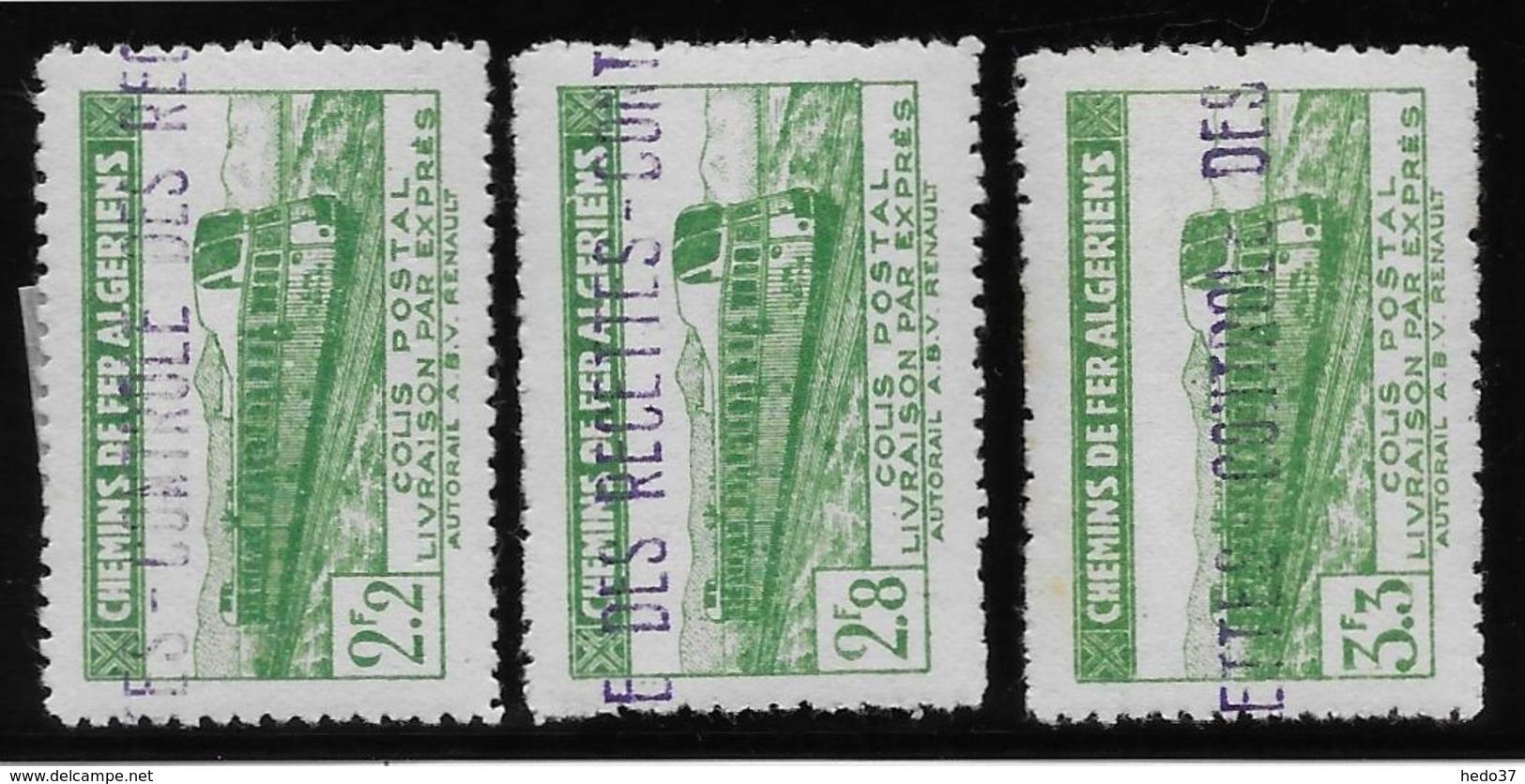 Algérie Colis Postaux N°87/89  - Neuf * Avec  Charnière - TB - Algérie (1924-1962)