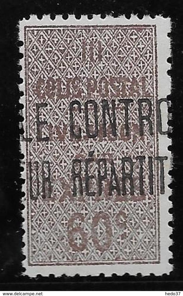 Algérie Colis Postaux N°9 - Neuf ** Sans  Charnière - TB - Algérie (1924-1962)