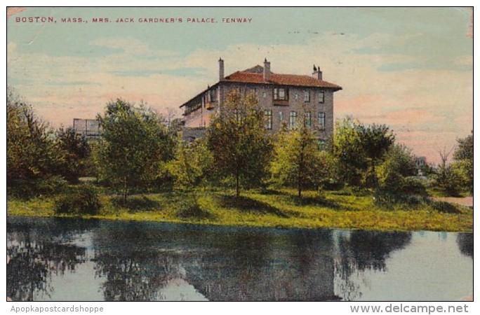 Massachusetts Boston Mrs Jack Gardner's Palace Fenway 1910