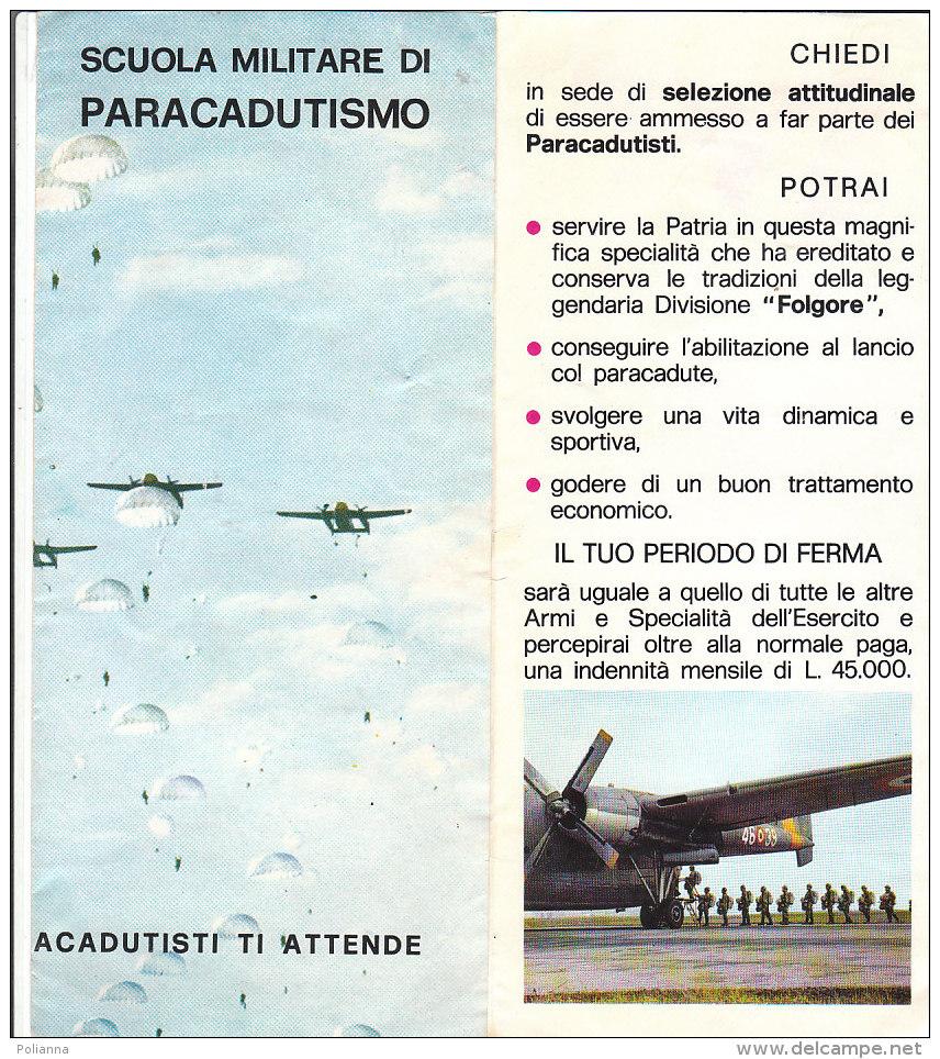 B1951 - Brochure SCUOLA MILITARE DI PARACADUTISMO Ed.Policrom - Libri, Riviste & Cataloghi