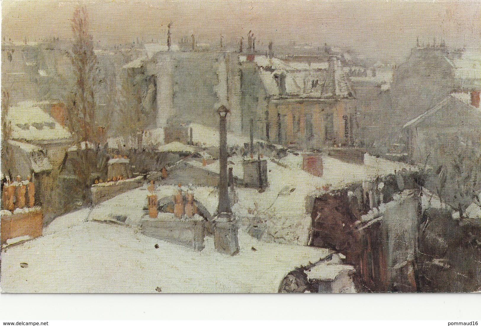 CPM Toits Sous La Neige - Caillebotte - Double - Paintings