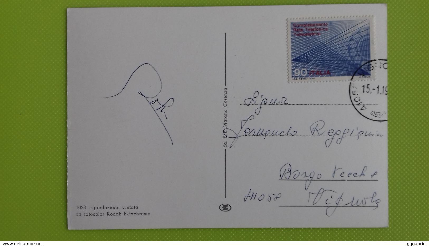 Cartolina SILA - CALABRIA - Viaggiata - Postcard - Vedutine - Italia