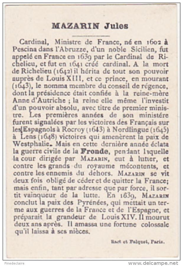 Chromo - Ract Et Falquet, Paris - Mazarin 1602-1661 - Chromos